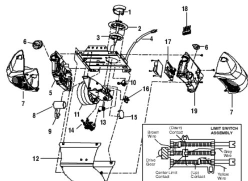 Model 3265 Chain Drive Opener Motorhead Parts Diagram