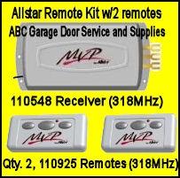 Allstar Mvp Radio Set 318 Mhz 110548 And 110925