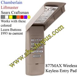 877max Wireless Keyless Entry System
