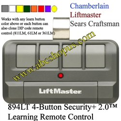 Liftmaster 894lt 4 Button Remote Transmitter Replaces The
