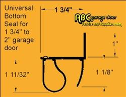 1 3 4 Quot 2 Quot Universal Garage Door Bottom Seal Cp 1380fb16