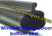 Windsor P Bulb Garage Door Bottom Weather Seal 18